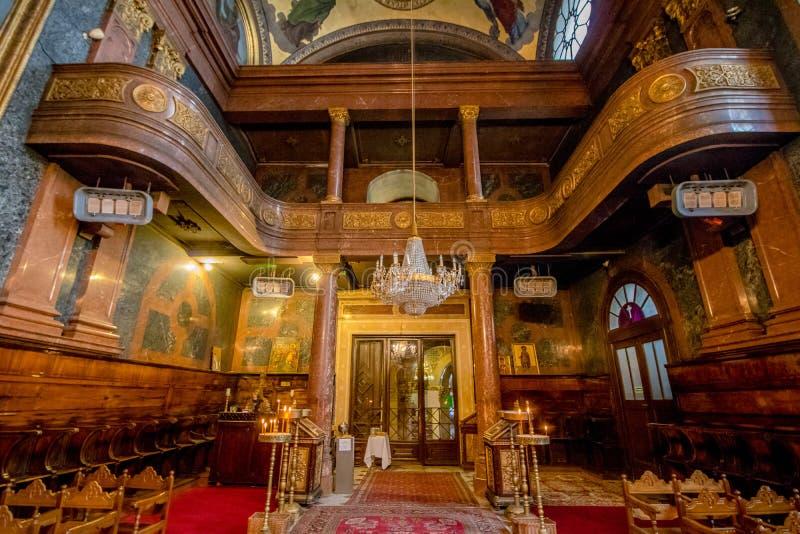 Grekisk ortodox kyrka för helig Treenighet i Wien Österrike royaltyfri bild