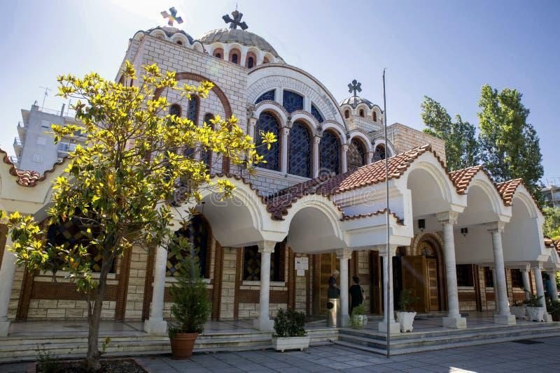 Grekisk ortodox kyrka i Thessaloniki arkivfoto