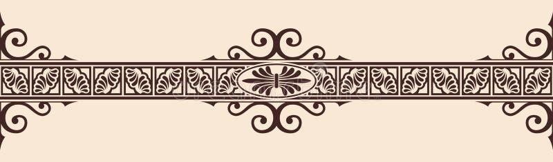 Grekisk prydnad för vektor royaltyfri illustrationer