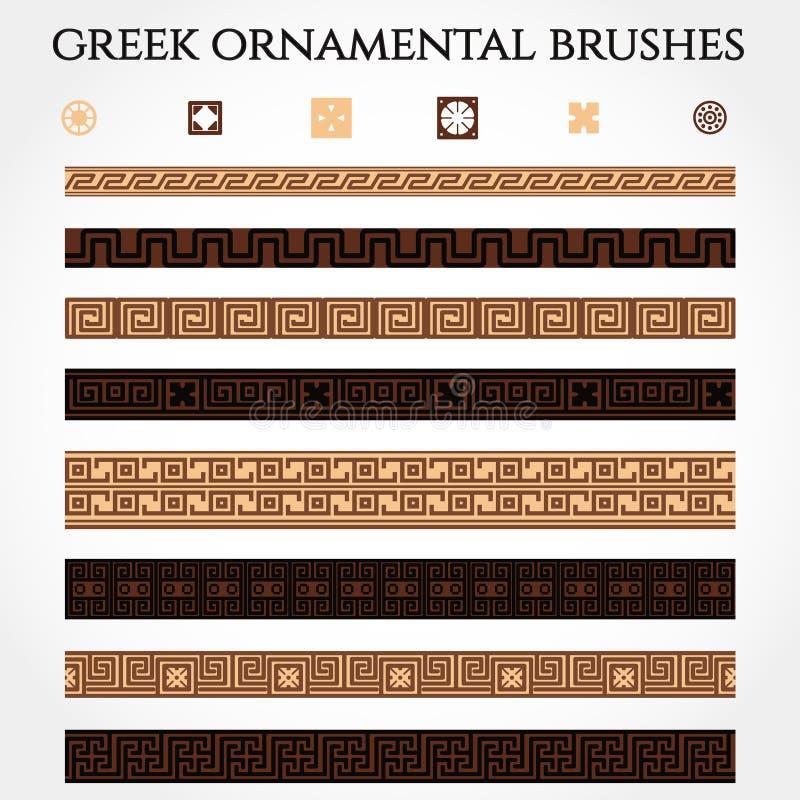 Grekisk prydnadgräns royaltyfri illustrationer