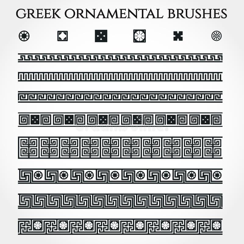 Grekisk prydnadgräns stock illustrationer