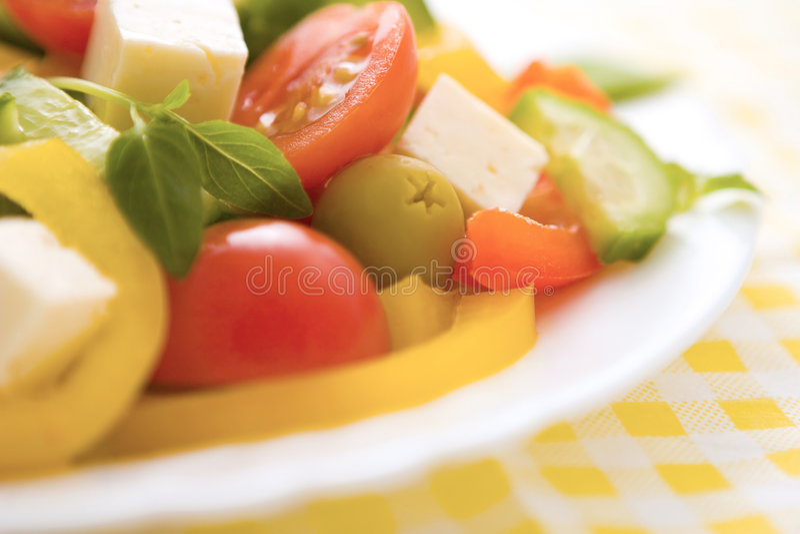 grekisk sallad royaltyfri foto