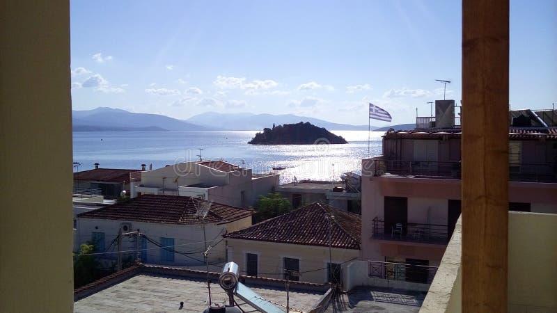Grekisk sommartid royaltyfri fotografi