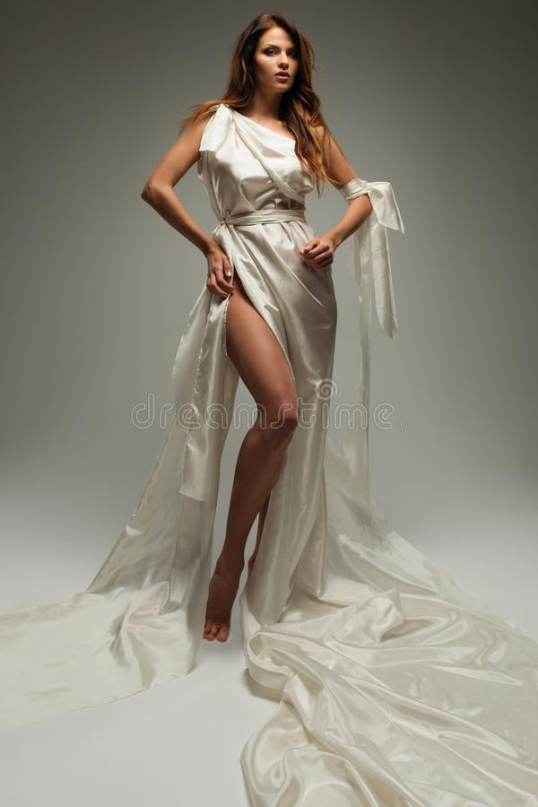 Grekisk stilkvinna royaltyfri fotografi