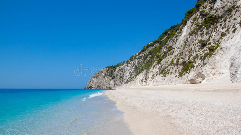 Grekisk strand arkivbilder
