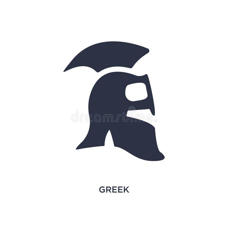 grekisk symbol på vit bakgrund Enkel beståndsdelillustration från historiebegrepp vektor illustrationer