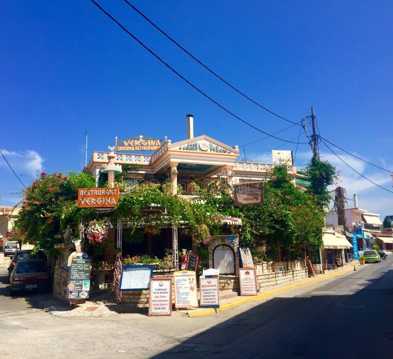 grekisk taverna royaltyfria foton