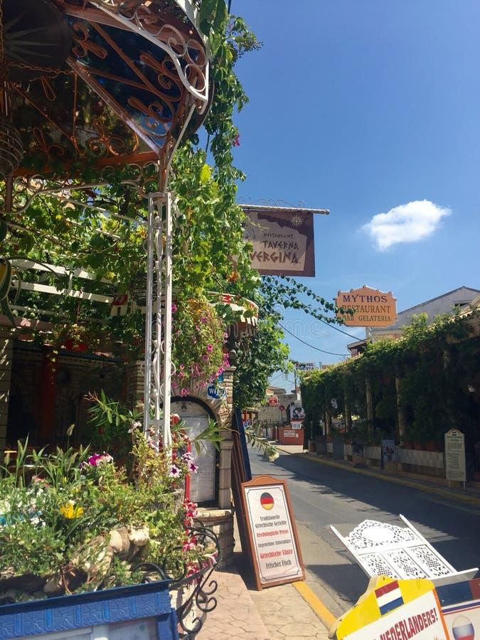 grekisk taverna royaltyfri foto