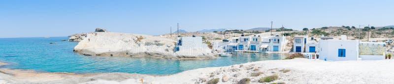 grekisk traditionell by för fiske fotografering för bildbyråer