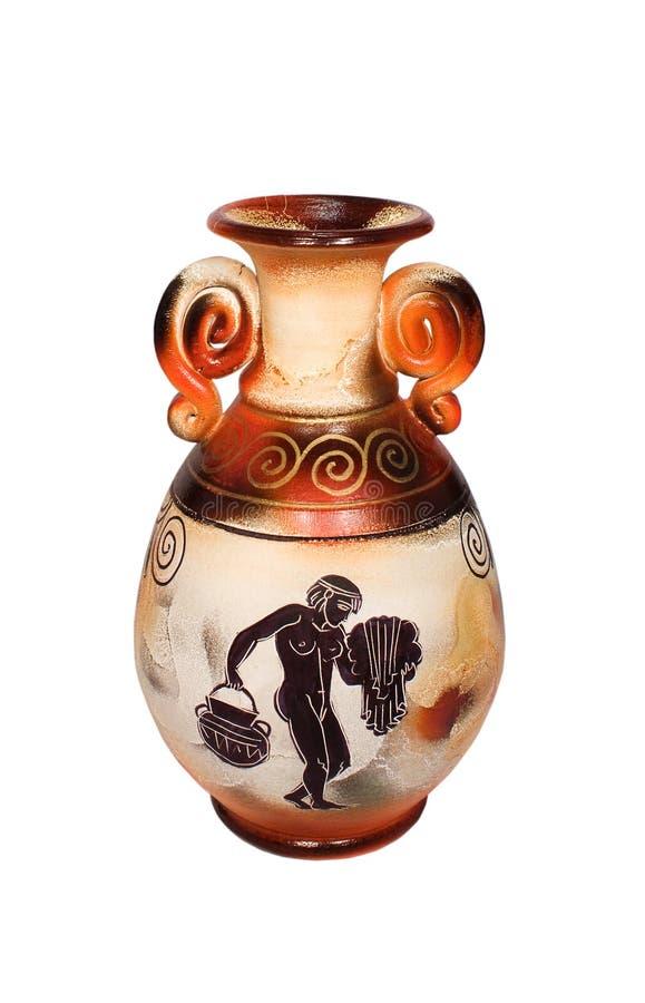 grekisk vase arkivfoton