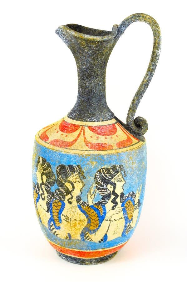 grekisk vase royaltyfria bilder