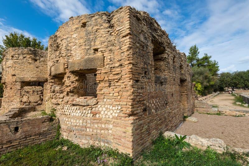 Grekiska bad, Olympia, Peloponnese, Grekland royaltyfri foto