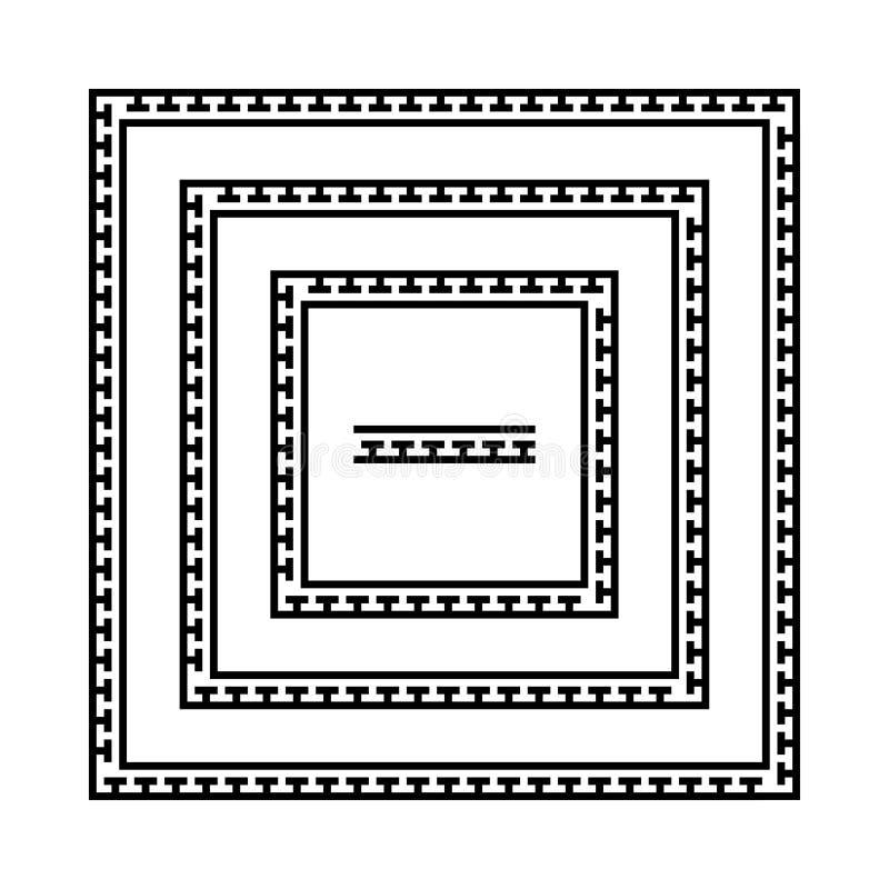 Grekiska slingringarramar, royaltyfri illustrationer