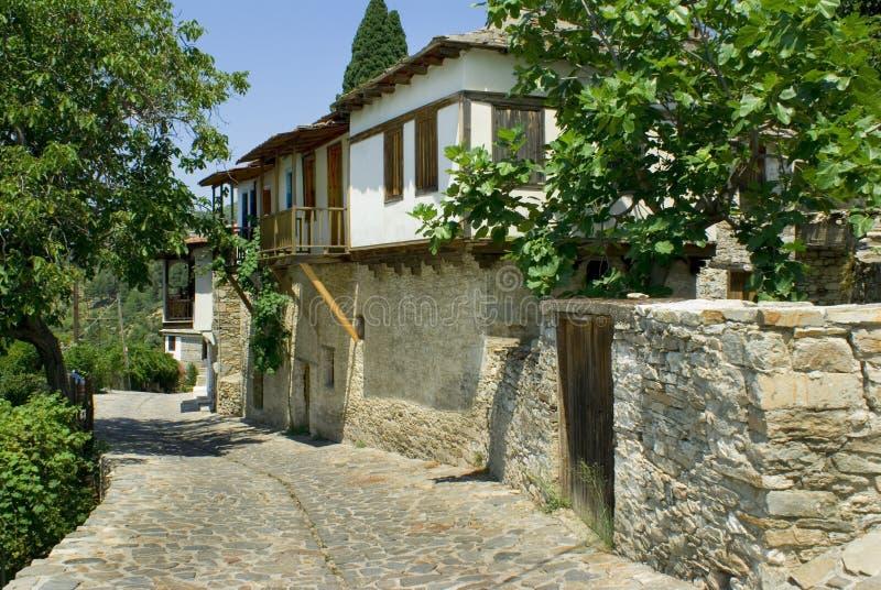 grekiska traditionella husöthassos arkivbilder