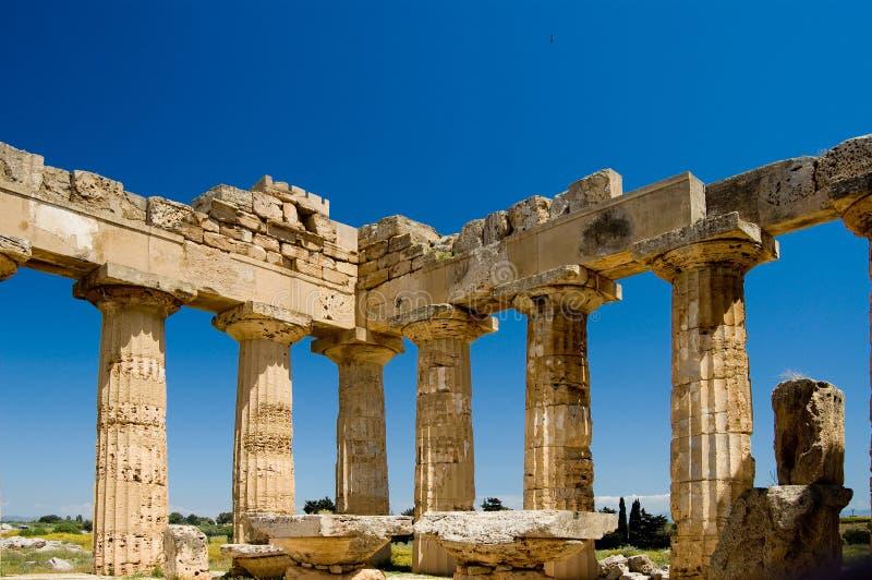 grekiskt selinuntesicily tempel arkivfoto
