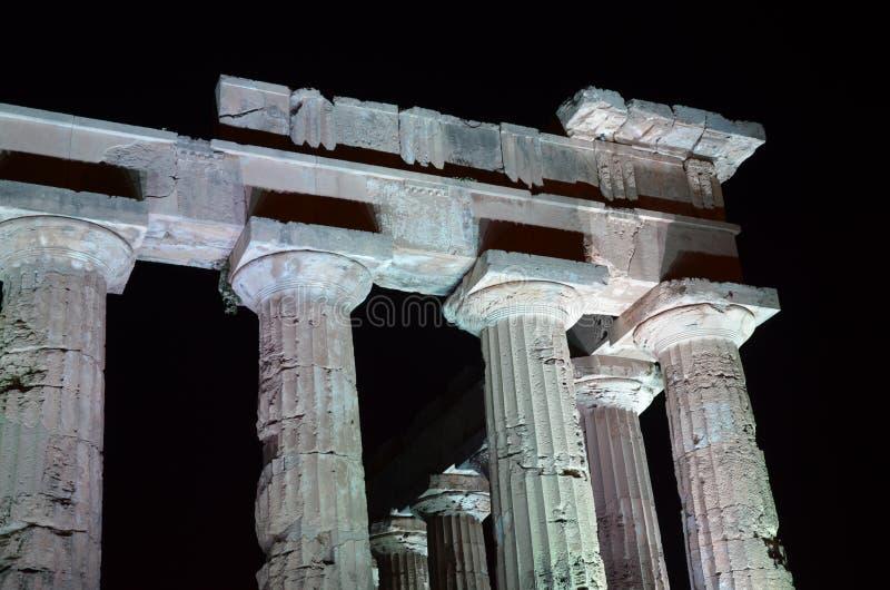 grekiskt selinuntetempel arkivfoton
