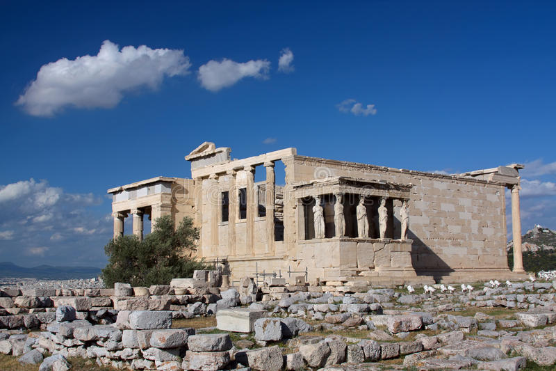 grekiskt tempel royaltyfri bild