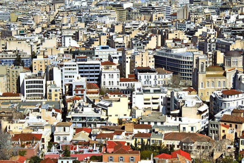 Grekland Atenstadssikt royaltyfri foto