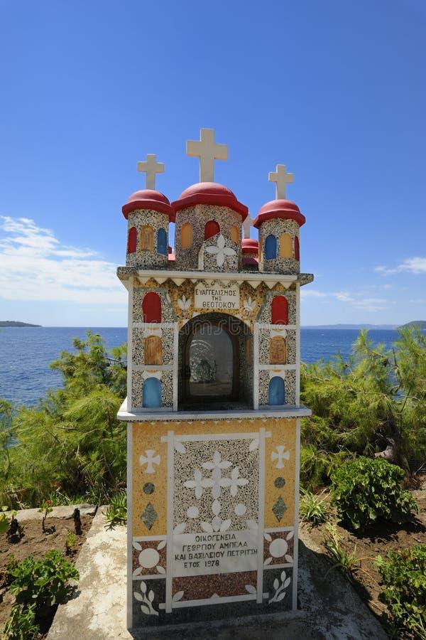 Grekland Chalkidiki Sithonia Neos Marmaras royaltyfria bilder