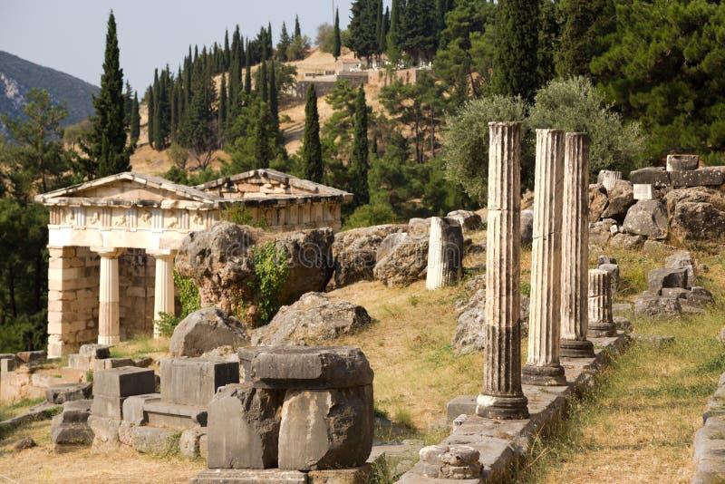 Grekland. Delphi. Vagga av sibylla arkivbild
