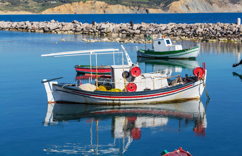 Grekland fartyg arkivfoto