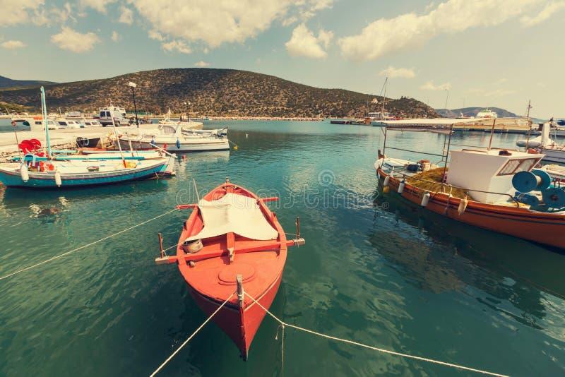 Grekland fartyg arkivfoton