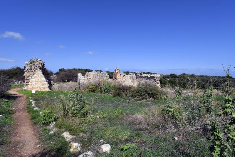 Grekland Kreta, forntida Aptera arkivfoton