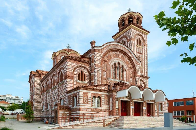Grekland Nea Kallikratia Kyrka av St Paraskeva arkivbild