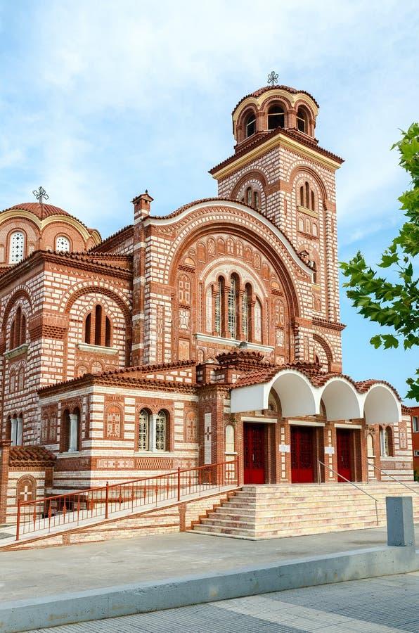 Grekland Nea Kallikratia Kyrka av St Paraskeva arkivbilder
