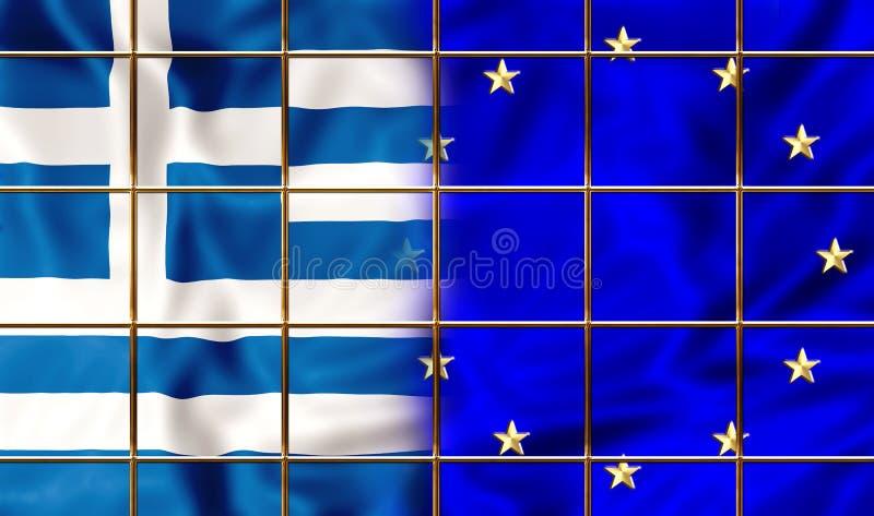 Grekland och Europa royaltyfri illustrationer