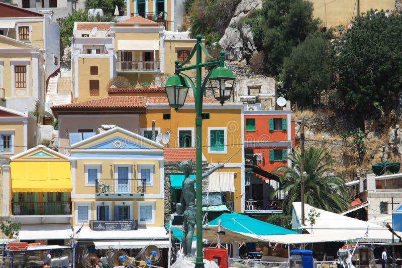 Grekland Symi arkivfoton