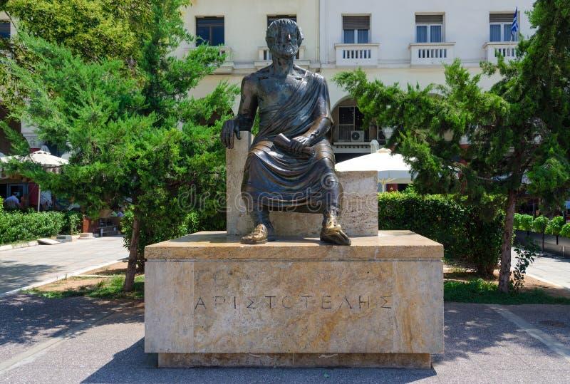 Grekland Thessaloniki, Aristotelous monument arkivfoto