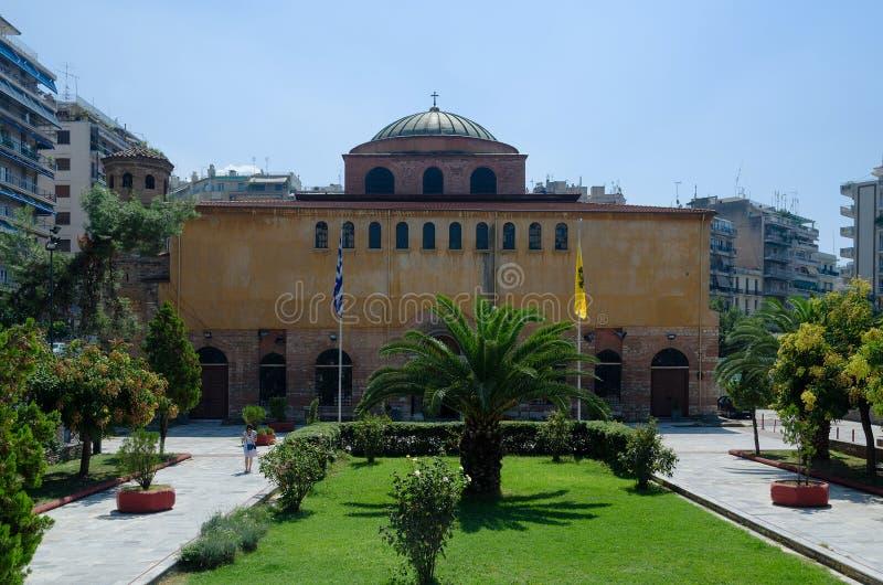 Grekland Thessaloniki, kyrka av Hagia Sophia royaltyfri foto