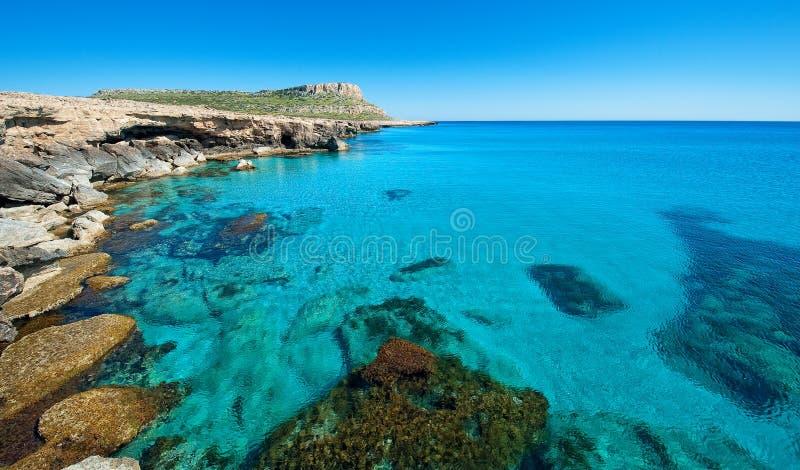 Greko del capo, zona di napa di ayia, Cipro. immagini stock