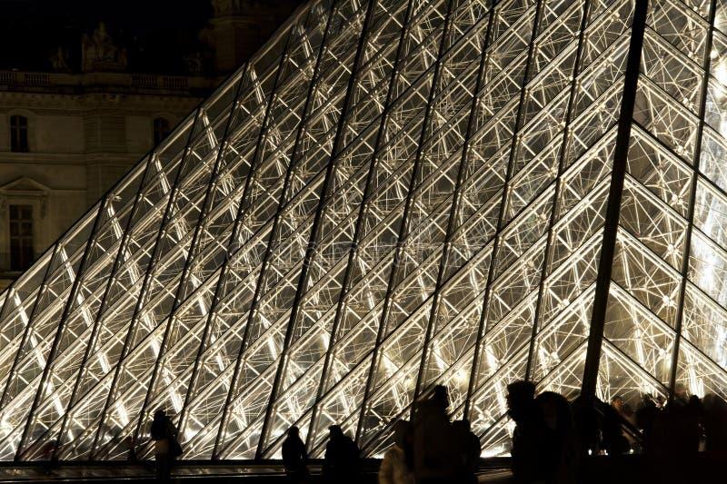 Grelha da pirâmide - Paris imagens de stock royalty free