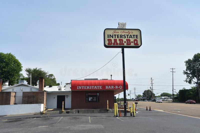 A grelha de um estado a outro de Jim Neely, Memphis, TN imagens de stock