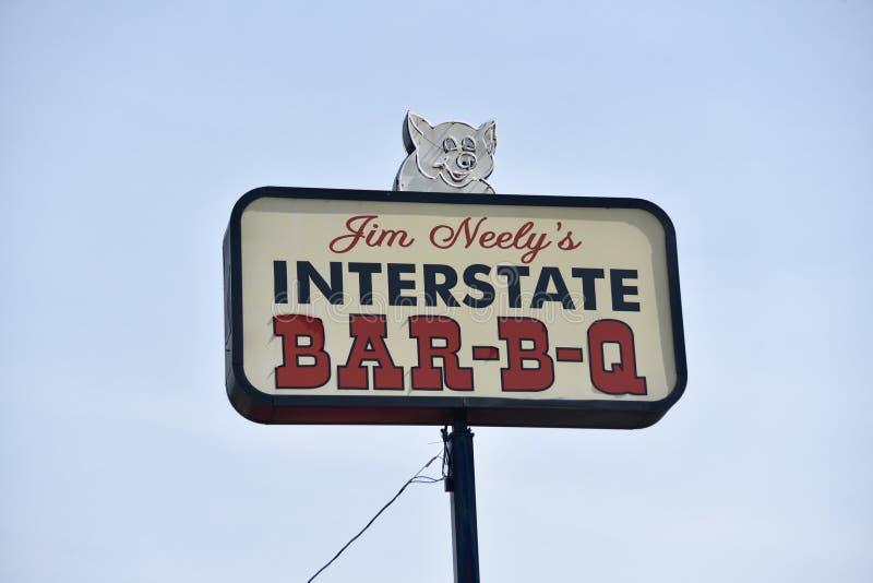 Grelha de um estado a outro, Memphis, TN imagem de stock