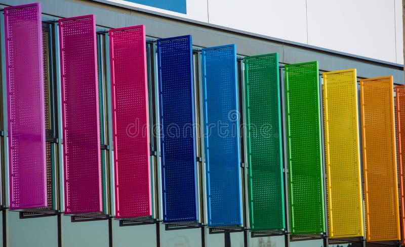 Grelhas coloridas imagem de stock