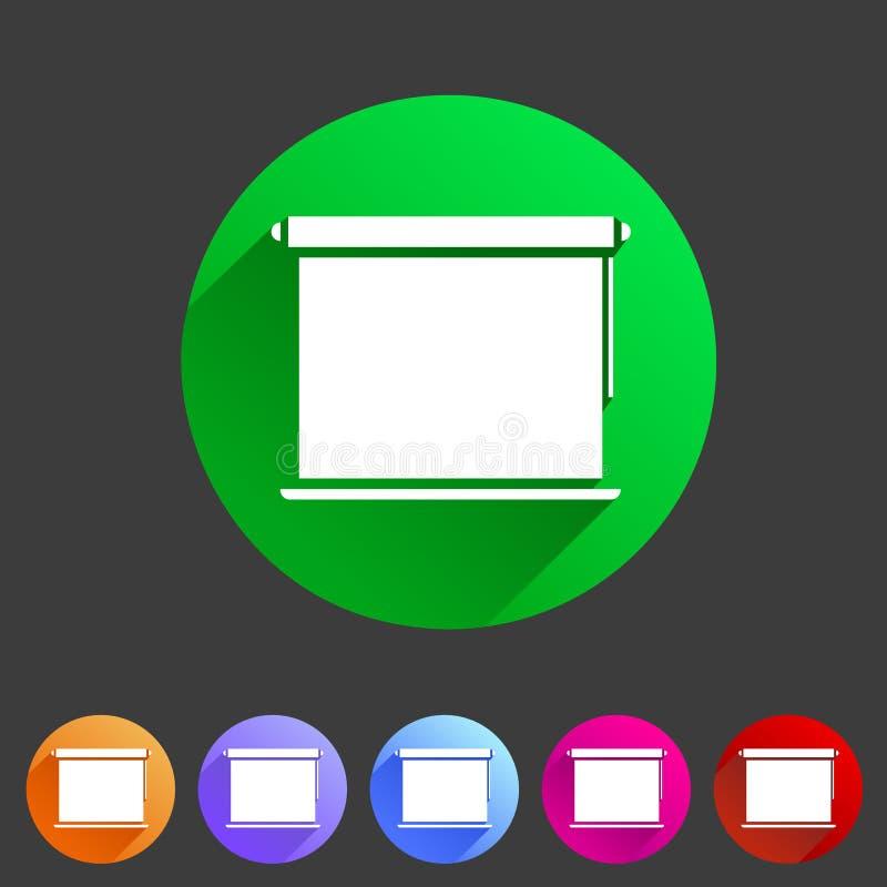 Grelhas da janela, plisse, jalousie, cortinas, rolos, vertical, horizontal, símbolos, ícones ilustração stock