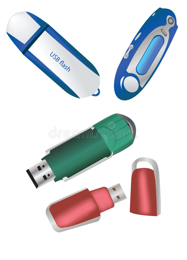 Grelle USB-Ansammlung stock abbildung