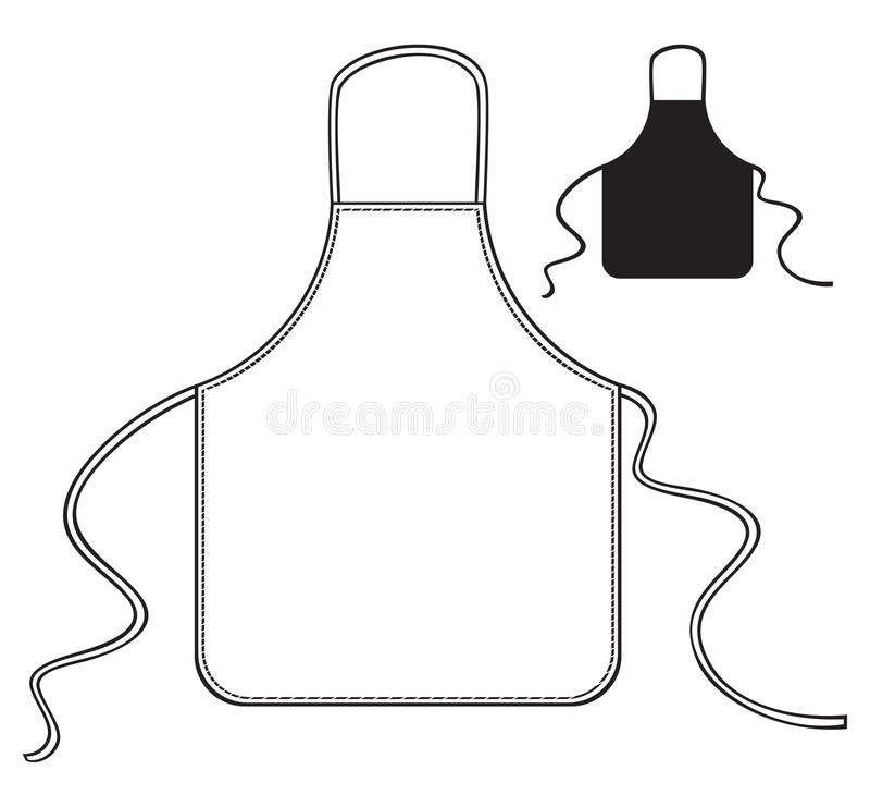 Grembiule della cucina illustrazione vettoriale
