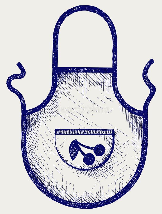 Grembiule per la cucina illustrazione di stock