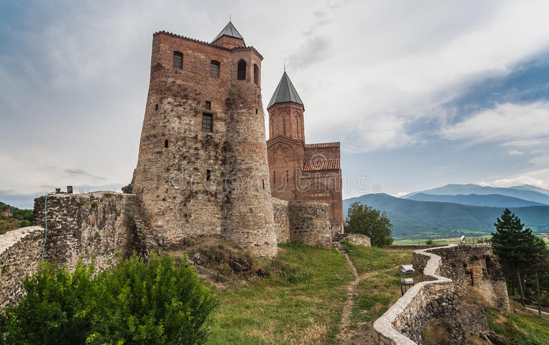 Gremi, citadel and Church of Archangel in Kakheti stock photos