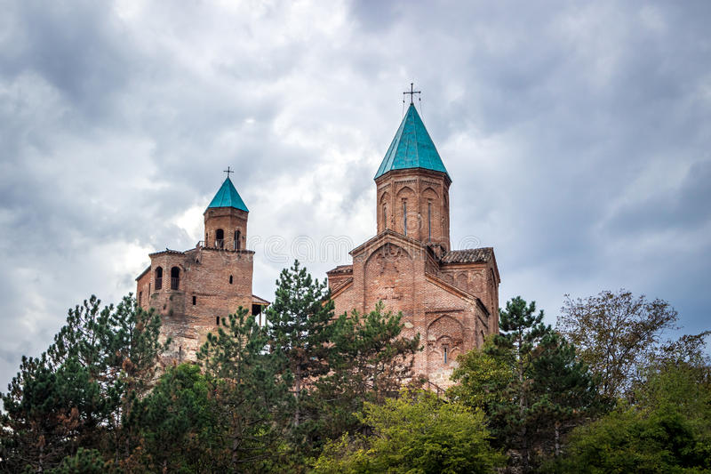 Gremi citadel and Church of the Archangels in Kakheti Georgia.  stock photos