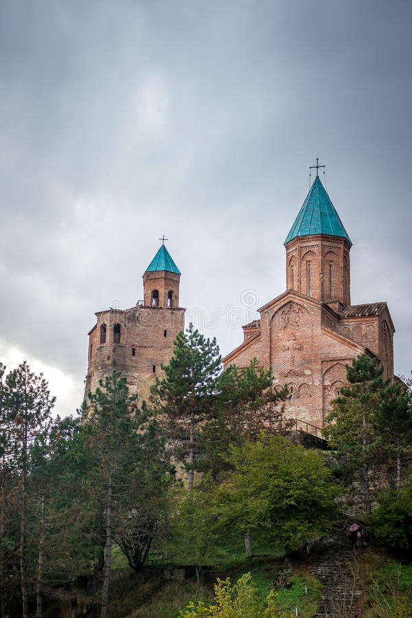 Gremi citadel and Church of the Archangels in Kakheti Georgia.  royalty free stock photo