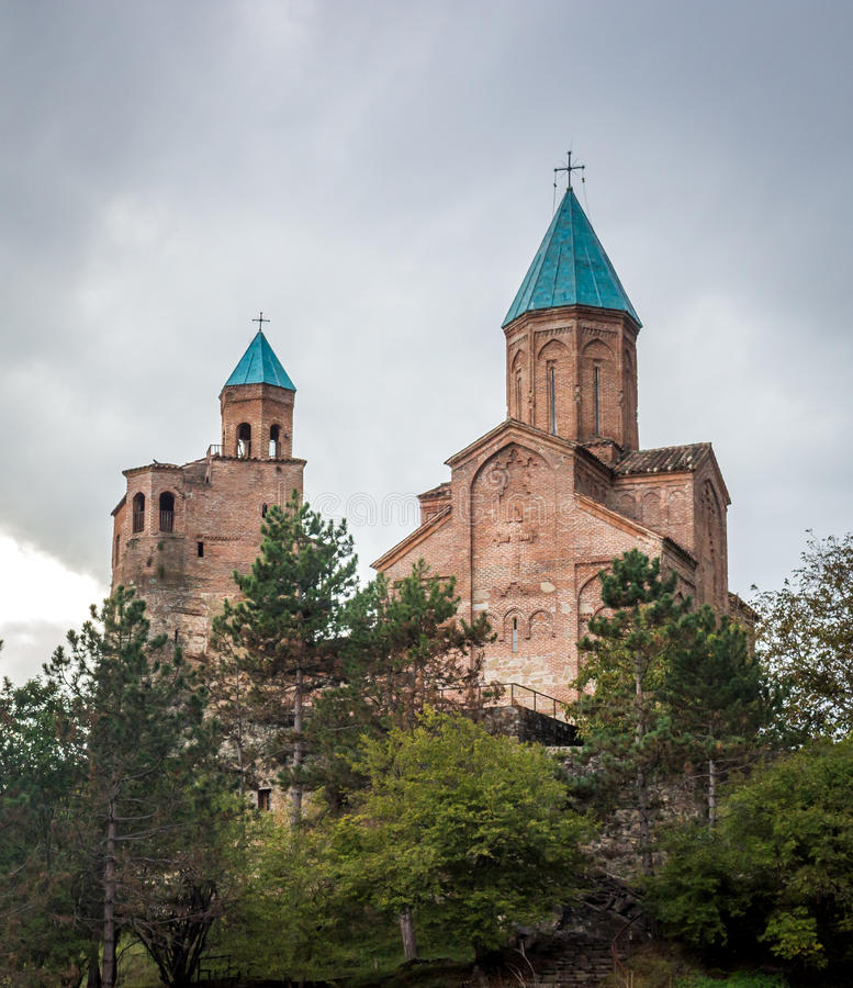Gremi citadel and Church of the Archangels in Kakheti Georgia.  stock photo