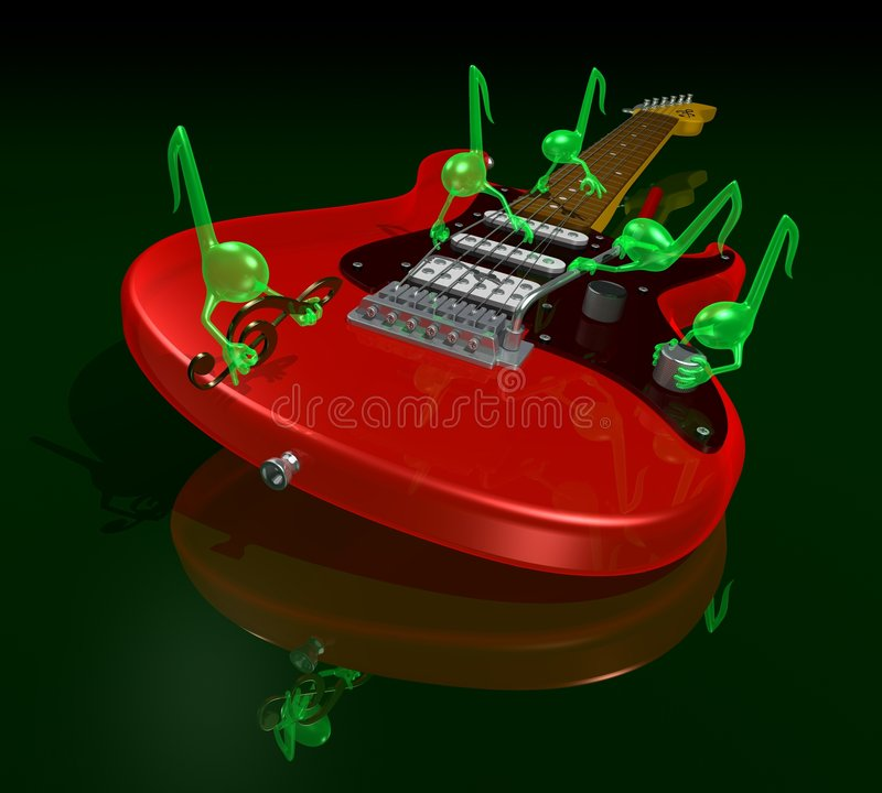 gremlins μουσικός διανυσματική απεικόνιση