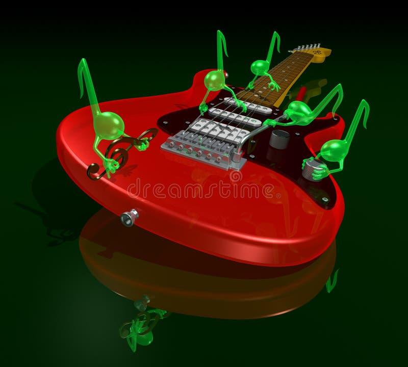 Gremlins musicali illustrazione vettoriale
