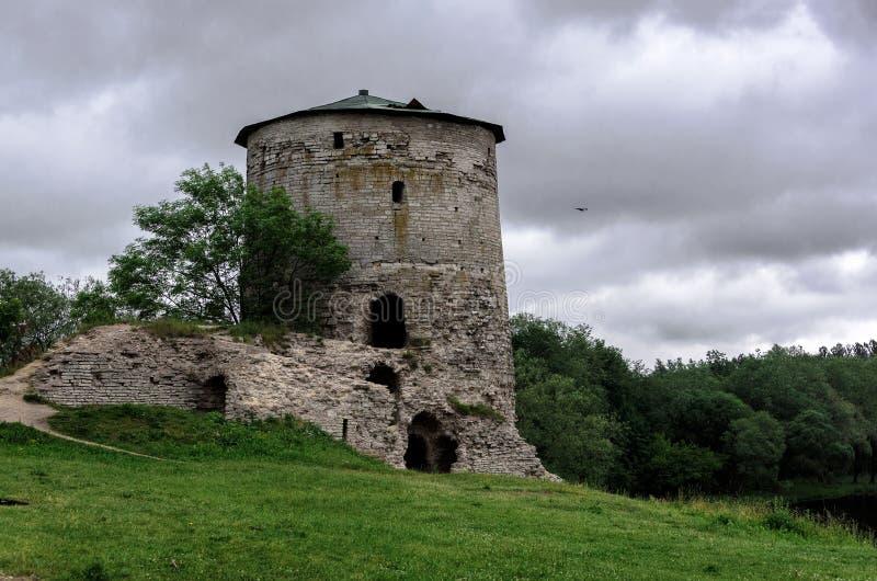 Gremyachaya Tower in Pskov stock photo