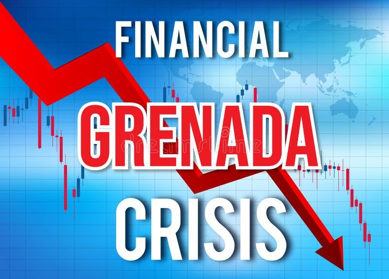 Grenada Financial Crisis Economic Collapse Market Crash Global Meltdown. Illustration vector illustration